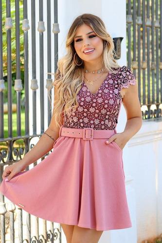 vestido godê feminino festa princesa detalhe tule acetinado