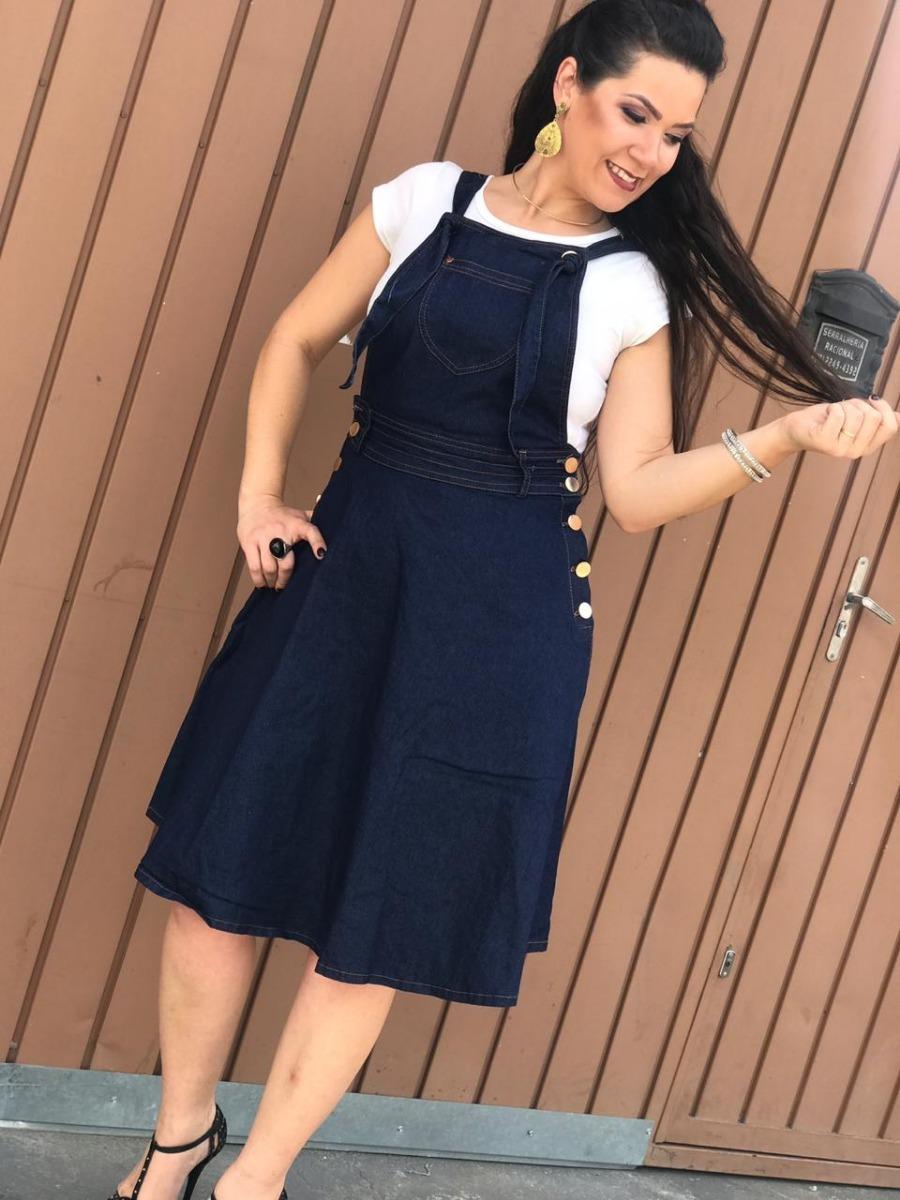 86085192e9 vestido gode jardineira lançamento moda evangélica. Carregando zoom.