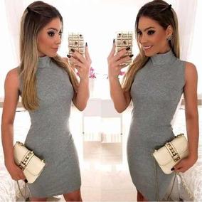 b0b77e4b79d5 Vestido Colado Gola Alta - Vestidos com o Melhores Preços no Mercado Livre  Brasil