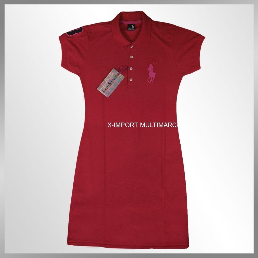 Vestido Gola Polo Feminino-malha Piquet-super Promoção - R  48 9dcf1b9b80f