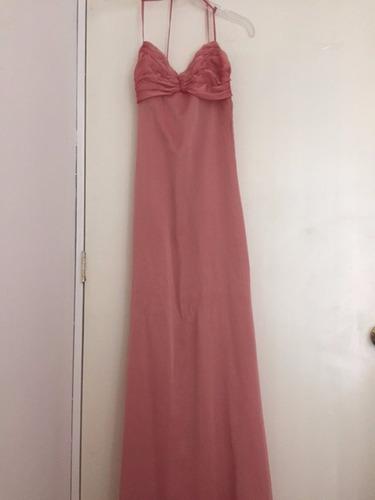 vestido  graduacion largo rosa vino talle m
