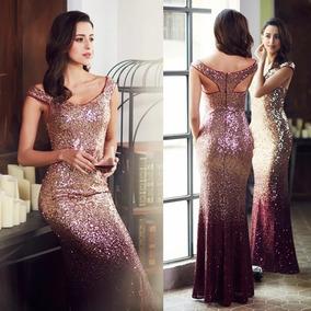 Vestido Graduación Noche Dorado Tallas Extra Epeb29998