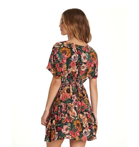 vestido grow wild billabong with you multicolor mujer