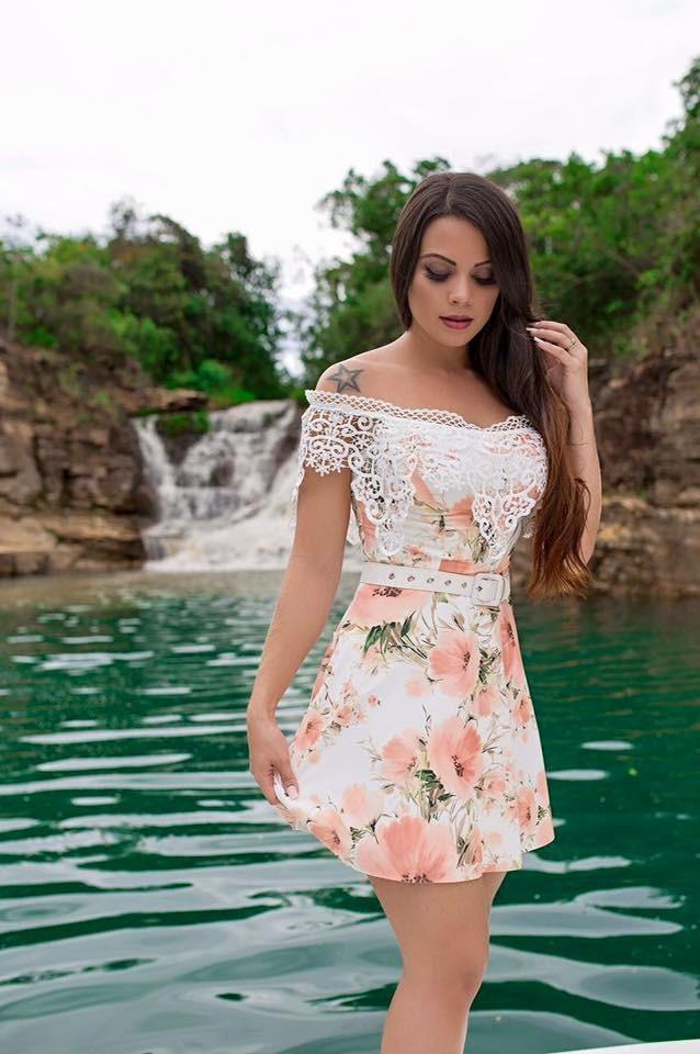 b42f97749 Vestido Guipir Babado - Dont Quest Moda Feminina - R$ 269,90 em ...