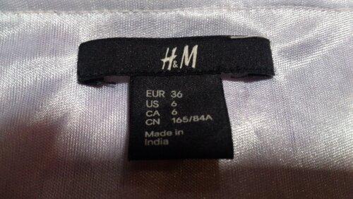 vestido h & m talla s perfecto estado.
