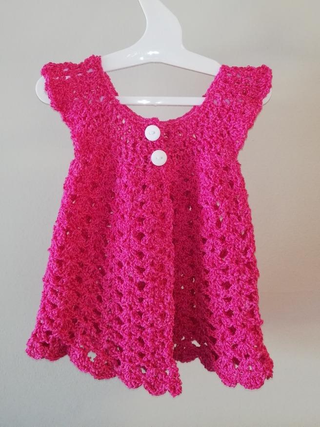 e6de28644 Vestido Hecho A Mano Crochet Niña - $ 390,00 en Mercado Libre