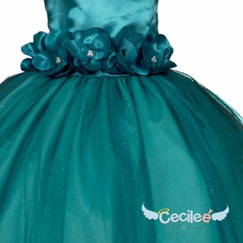 vestido hermos de fiestas niña exclusivo alta calidad 099