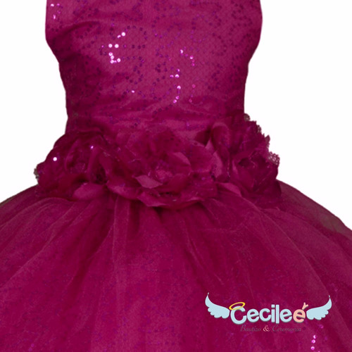 vestido hermos de fiestas niña exclusivo alta calidad milan