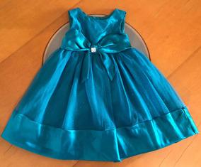 ffa481e53 Vestido Hermoso Azul Niñas Gala Elegante Ropa Vestir 3 Años