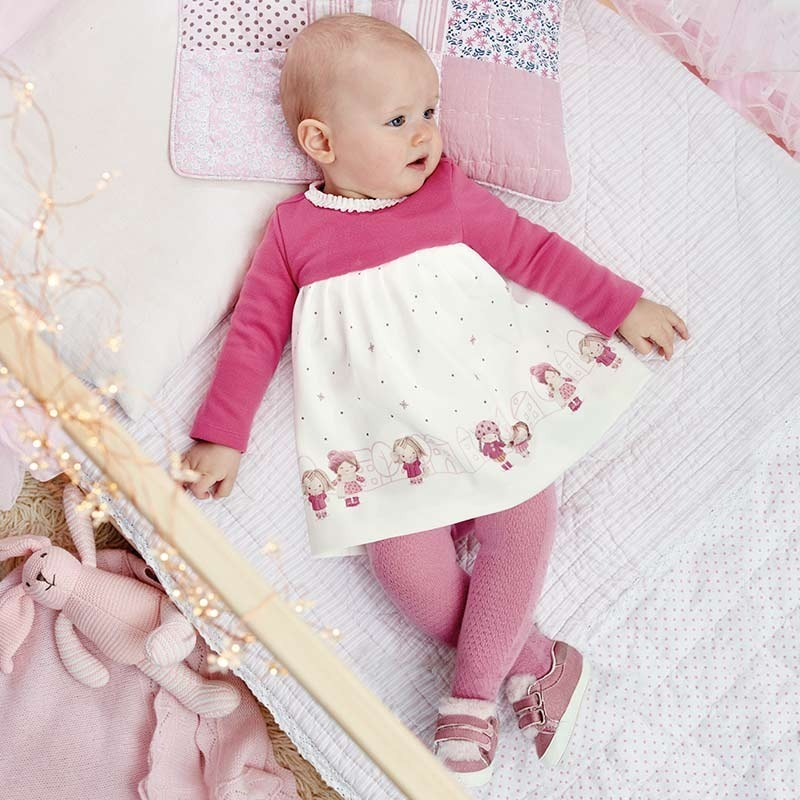 bcb60351e vestido hermoso manga larga 2858 rosa bebé niña mayoral a. Cargando zoom.
