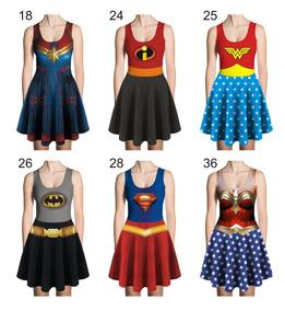 5592c98e3a56c5 Vestido Herois Heroinas Cosplay Fantasia Maravilha A Escolha