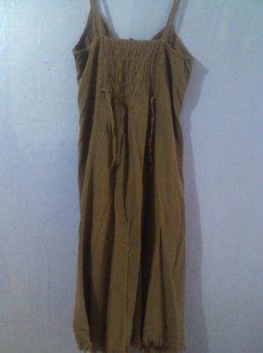 vestido hindu de dama talla xl en buen estado. color marron