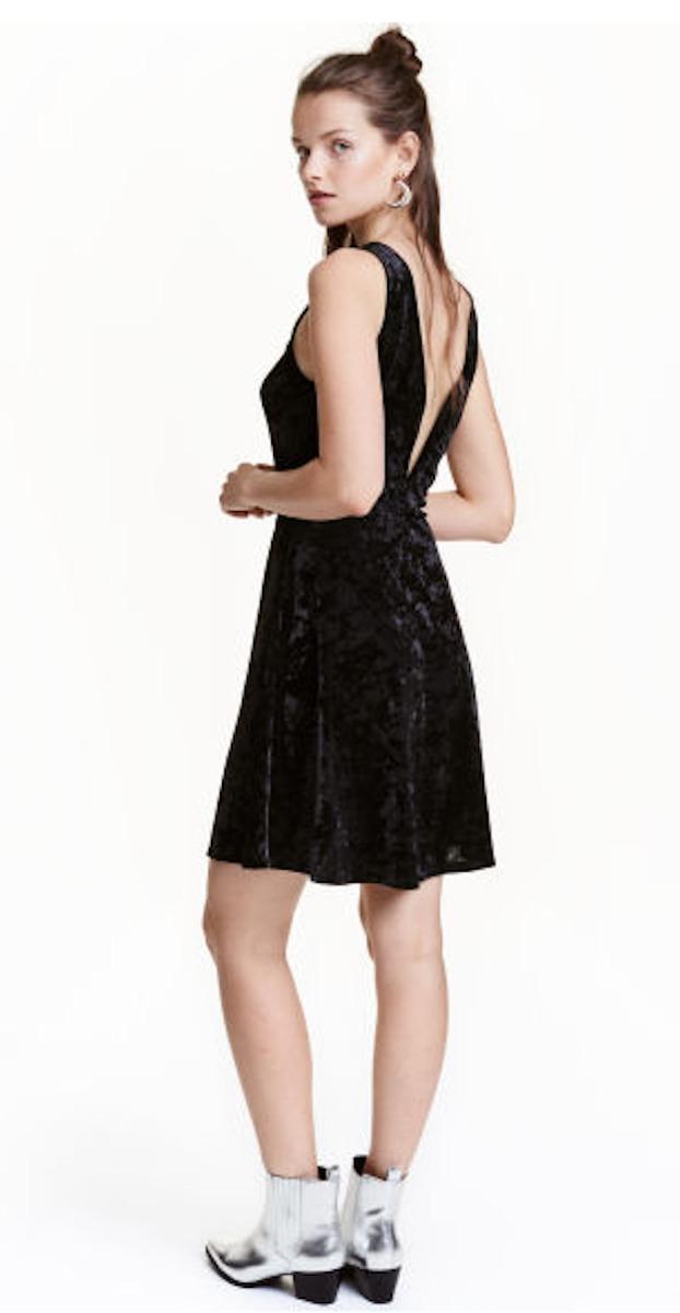Vestido velvet negro