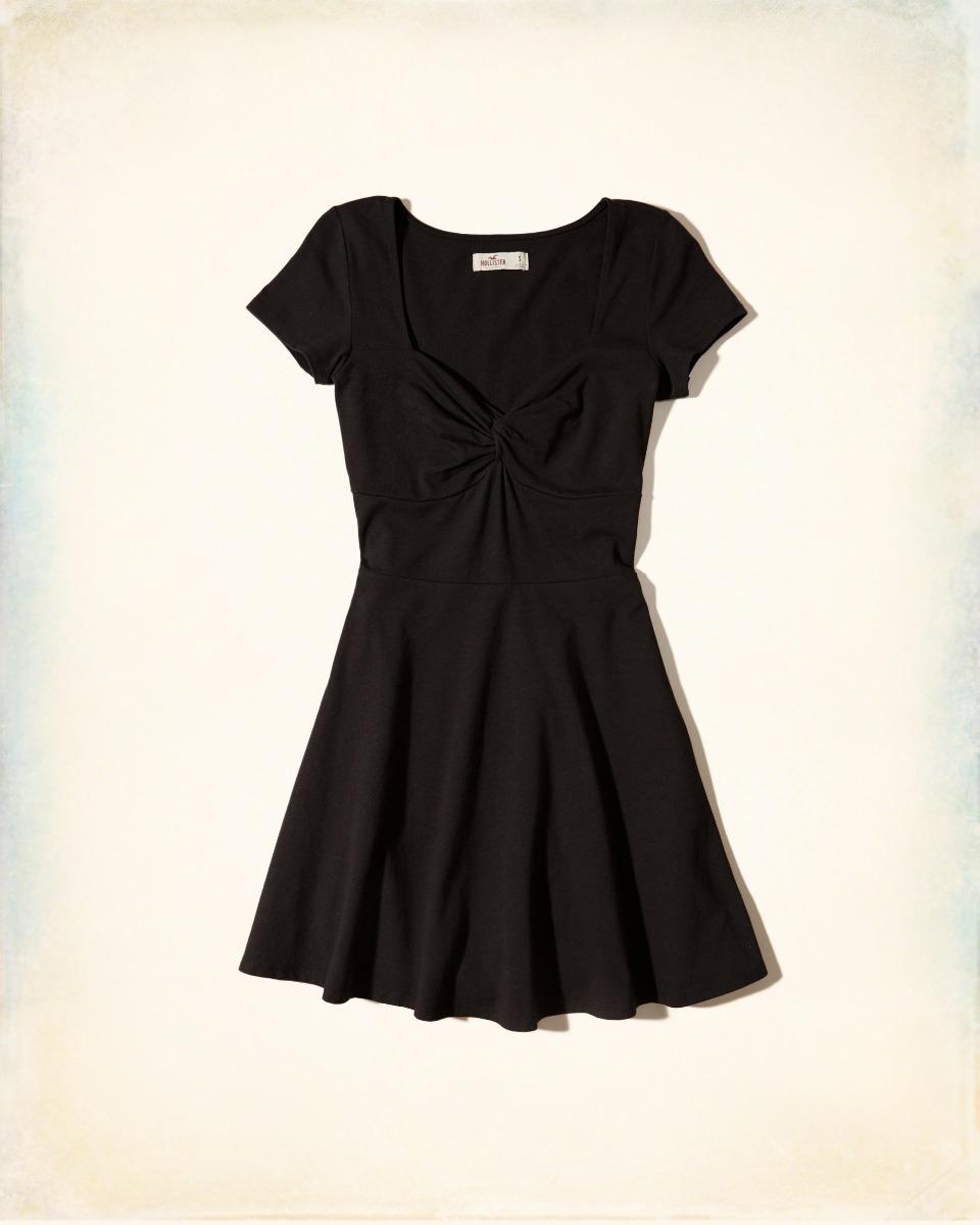 af679abb1a vestido hollister casual preto feminino m     original    . Carregando zoom.