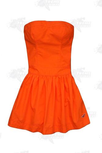 vestido hollister straple para mujer 100% original