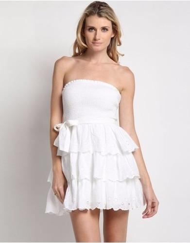 vestido hollister tomara que caia - laço, babado - tam g p2