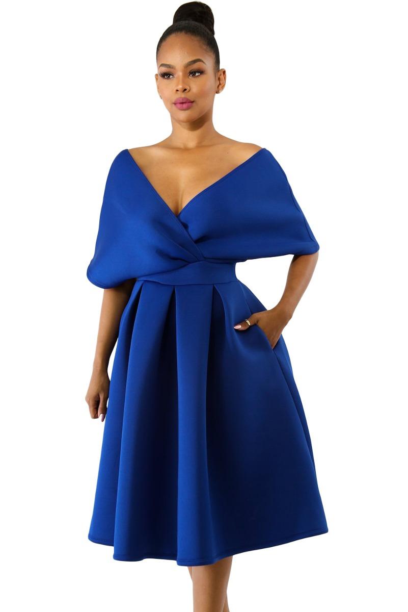 Vestidos azul rey formal