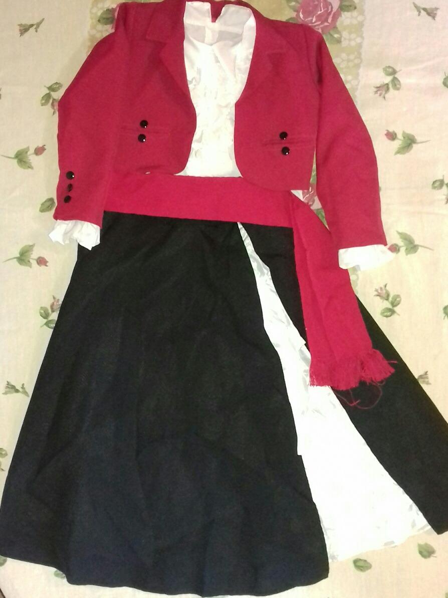 Vestido de huasa elegante nina