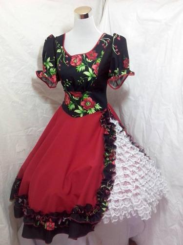vestido huasa semi profesional talla m entrega inmediata