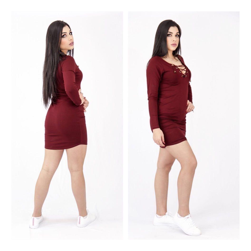 ce08f6a8bfd8 vestido ilhos moda outono inverno 2019 moda feminina lançame. Carregando  zoom.
