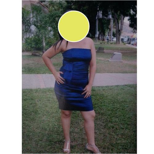 vestido importado azul talla m