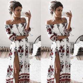 8ec81d2e3 Vestido Importado Bohemio Hippie Chic Largo