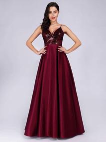 Vestido Importado Color Vino