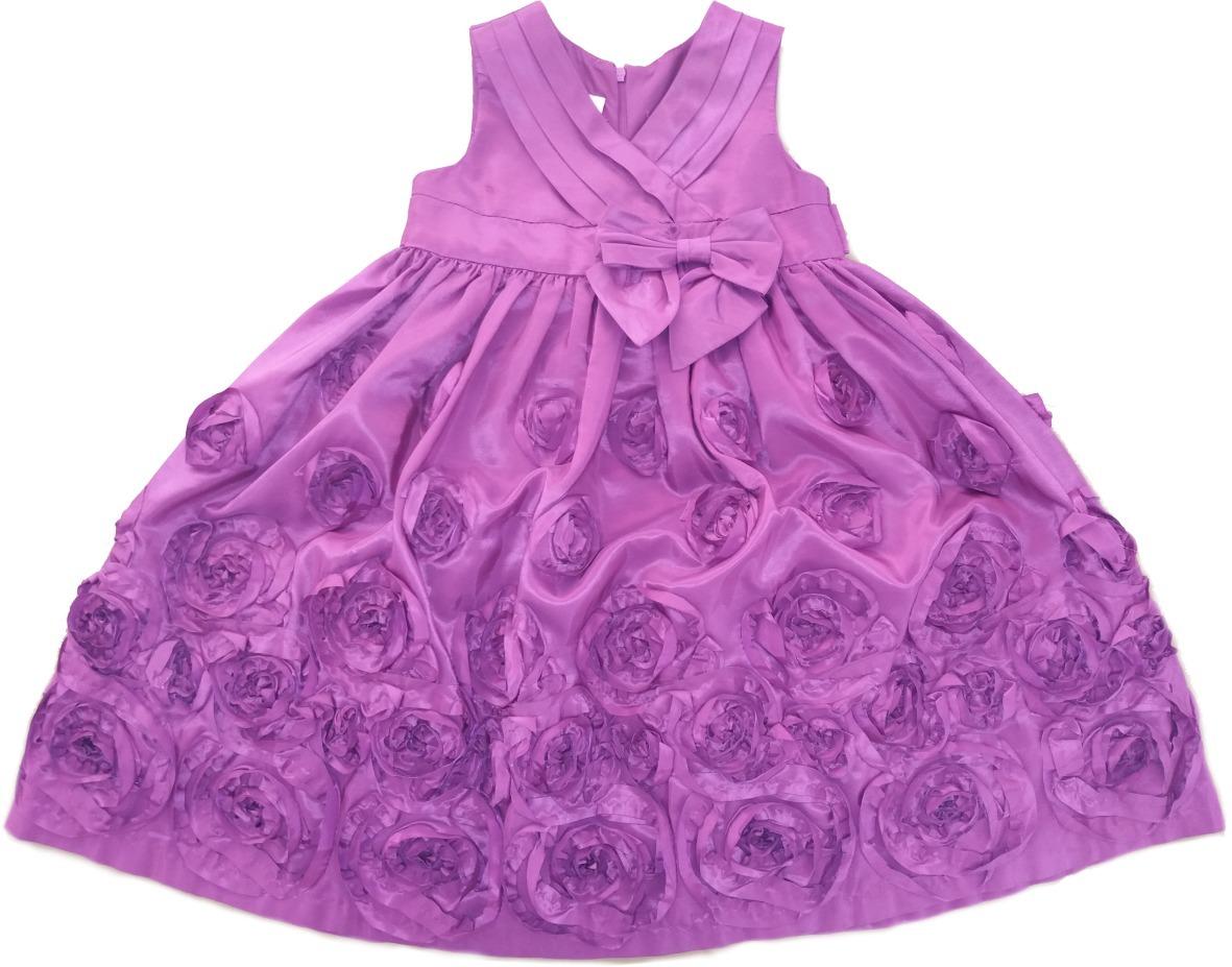 Hermosa Vestido Morado Parte Niñas Festooning - Colección de ...
