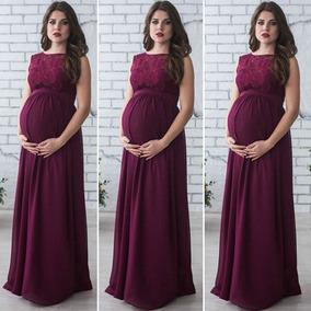 576c001c9 Vestidos Maternos Largos Elegantes en Mercado Libre Colombia