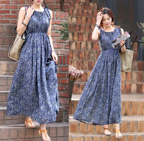 vestido importado floral longo azul : do pp ao plus size!