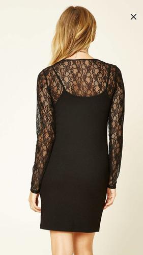 vestido importado forever 21 combo dress top + vestido cami