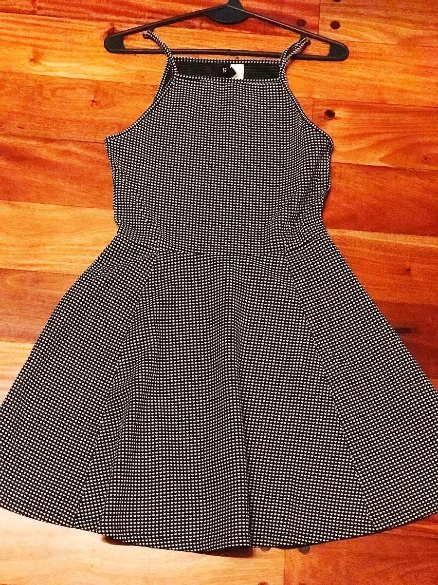 Vestido Importado Hm Blanco Negro Corazones 77000 En Mercado Libre