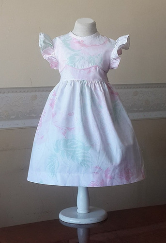 vestido importado nena fiesta verano 1-2 años francia