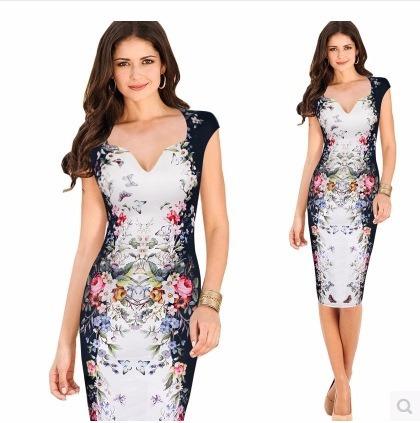 vestido importado oficina modelo primavera qilaixing