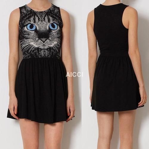 vestido importado renda sexy chique gato gatinho