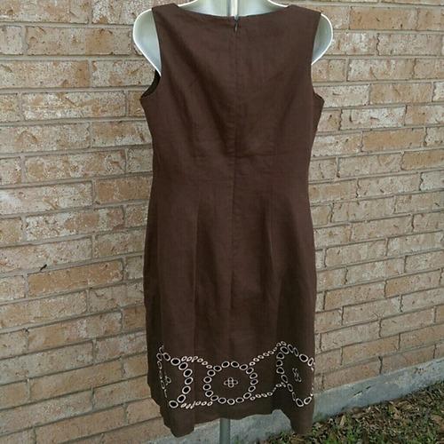 vestido importado talla s marron  remato por viaje!