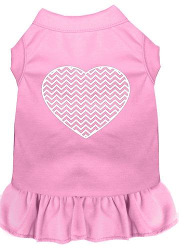 vestido impresión pantalla cheurón corazón rosa luz lg (14)