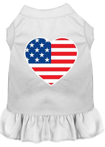 vestido impresión pantalla corazón americano bandera lg bl