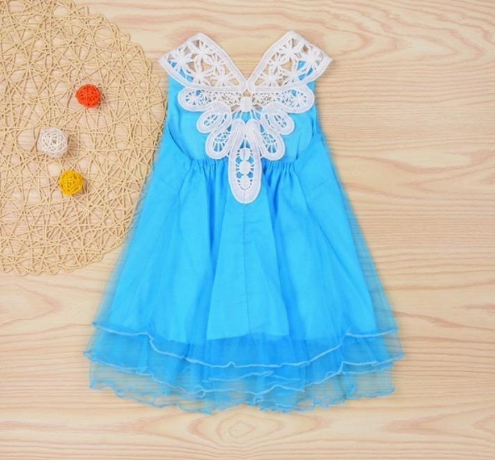 Vestido infantil azul barato