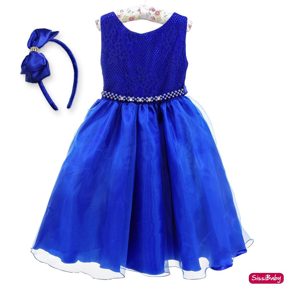 Vestido de infantil azul