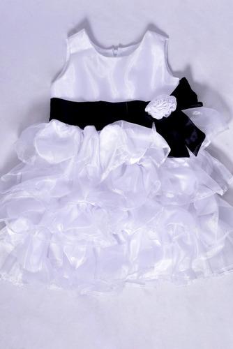 vestido infantil babados