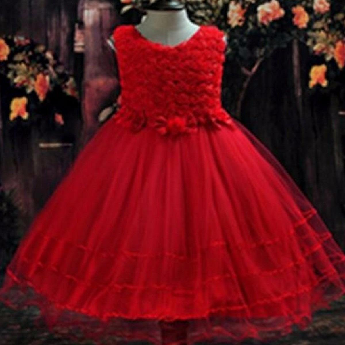 fb569e9998 Vestido Infantil Baile Aniversário Pronta Entreg Princesa 04 - R  65 ...
