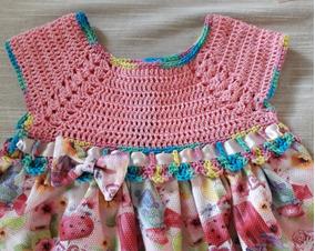 c3cc8f6b3b4a Vestidos Para Bebês Em Crochê - Vestidos de Bebê no Mercado Livre Brasil