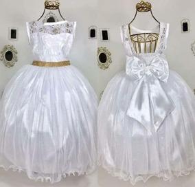 b02d3d4e1d Vestido Festa Casamento Longo Infantil 10 Anos - Vestidos no Mercado ...