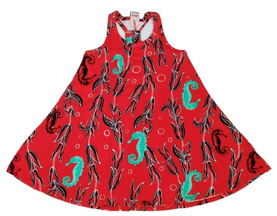 ce25b2d8206 Vestido Infantil Brandili - Vermelho - R  36