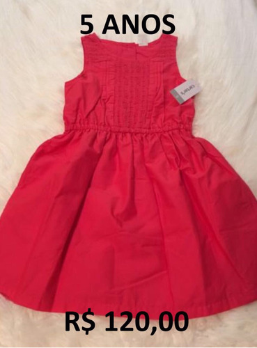 vestido infantil carters 5 anos