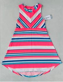 6e4fb348b8e093 Vestido Infantil Carter's Listrado 4 / 5 Anos 100% Original