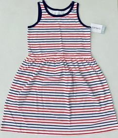 bb8f70aa9ca508 Vestido Infantil Carter's Listrado Original E Importado