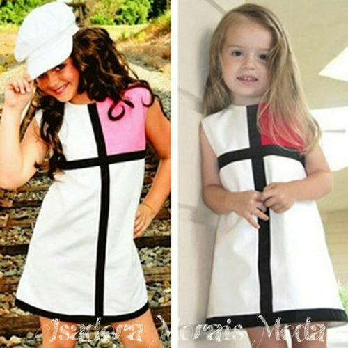 vestido infantil cores importado (pronta entrega)