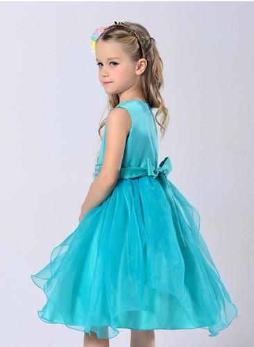 vestido infantil criança festa aniversário daminha pérolas
